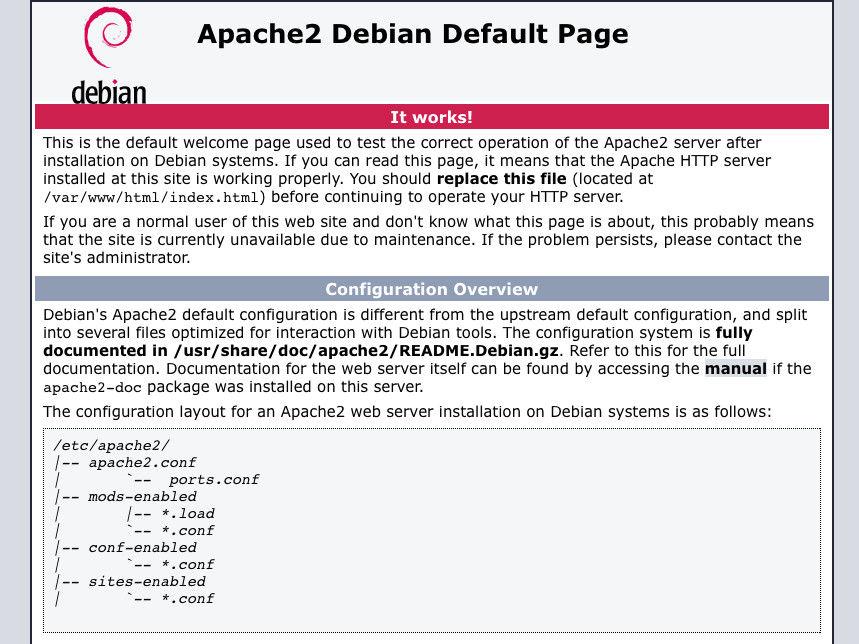 default page of apache web server